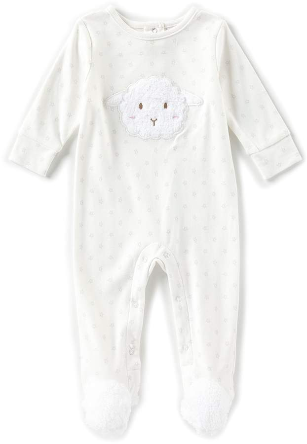 Starting Out Baby Newborn-6 Months Lamb Face Long Sleeve Footed Coveralls