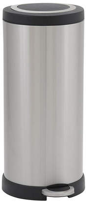 Household Essentials Stainless Steel 30L Windsor Round Step Trash Bin