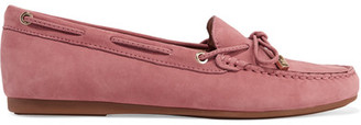 MICHAEL Michael Kors - Sutton Nubuck Moccasins - Antique rose $100 thestylecure.com