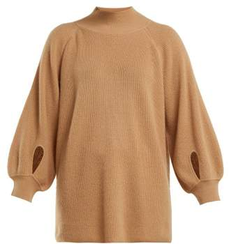 Roche Ryan Balloon Sleeved Cashmere Sweater - Womens - Beige