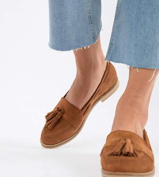 Asos Design DESIGN Messenger Suede Tassel Loafers