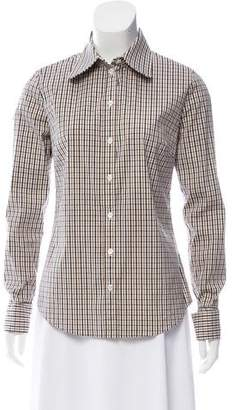 Michael Kors Tailored Plaid Button-Up