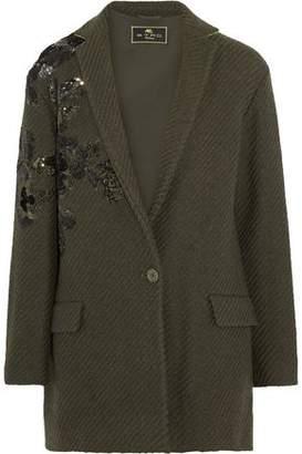 Etro Embellished Ribbed Wool-Blend Jacket