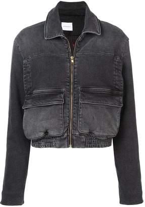 Magda Butrym zipped denim jacket