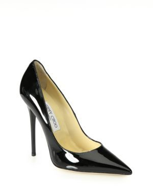 Jimmy Choo Anouk Patent Leather Point-Toe Pumps
