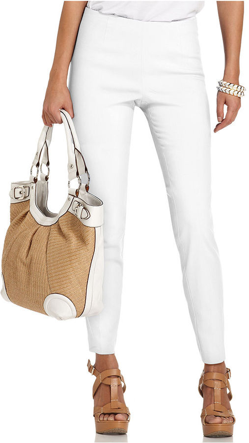 Style&Co. Pants, Slim-Fit Side-Zip Ankle