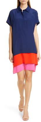 Diane von Furstenberg Hatsu Tiered Silk Shirtdress
