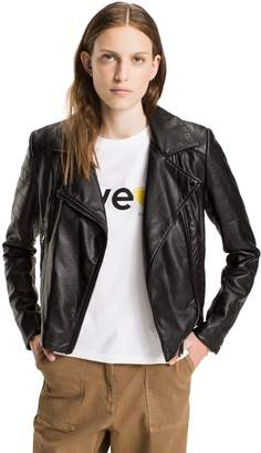 Tommy Hilfiger Vegan Leather Biker Jacket