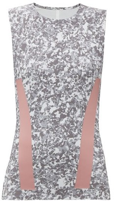 adidas by Stella McCartney Alphaskin Graphic Printed Tank Top - Womens - Grey Multi