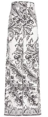 Etro Printed silk trousers