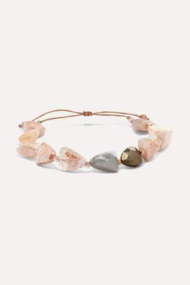 Chan Luu Rose Gold-plated Multi-stone Bracelet - Pink