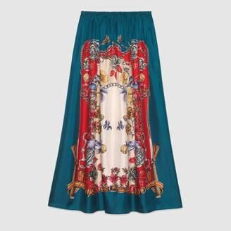 Gucci (グッチ) - ブドワール プリント シルク スカート