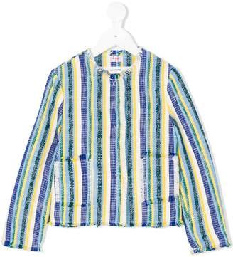 Il Gufo tweed effect striped jacket