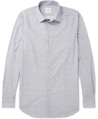 Paul Smith Soho Cutaway-Collar Paisley-Print Cotton Shirt