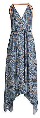 Ramy Brook Women's Vanna Tile Print Maxi Dress