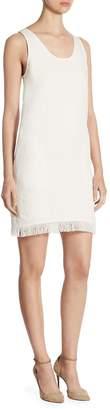 Theory Women's Oekel Fringed Linen Shift Dress