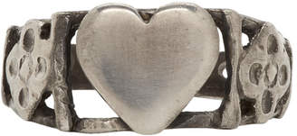 Saint Laurent Silver Heart Ring