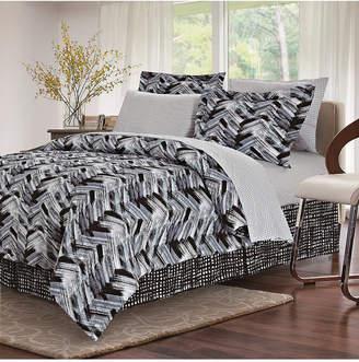 Tribeca Brown & Grey Black 8-Piece Bed-In-Bag, Full Bedding