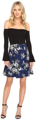 Christin Michaels - Yalena Off the Shoulder Bell Sleeve Dress Women's Dress $79 thestylecure.com