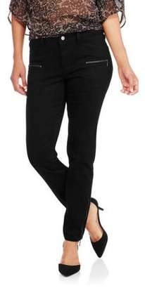 Nevermind Women's Sargeant Moto Zipper Detail Skinny Jean