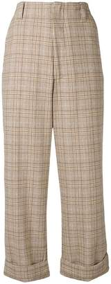 Acne Studios loose fit plaid trousers