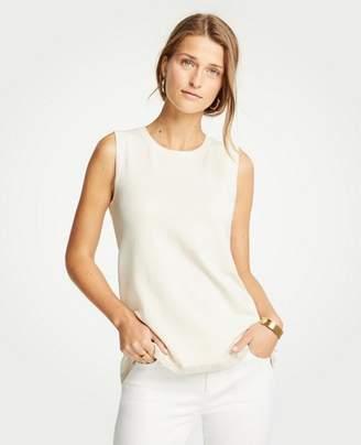Ann Taylor Petite Shimmer Hem Sweater Shell
