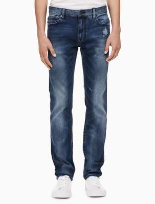 Calvin Klein slim leg monza medium blue jeans