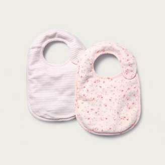 The White Company Floral & Stripe Bibs - Set of 2, Pink, One Size