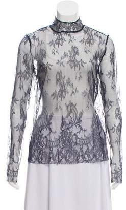 Tibi Chantilly Lace Long Sleeve Top w/ Tags
