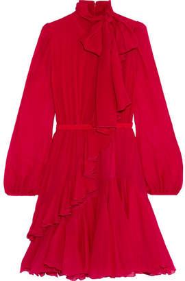 Giambattista Valli Ruffled Silk-chiffon Dress - Red
