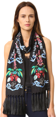 Temperley London Sail Embroidered Dinner Scarf $650 thestylecure.com