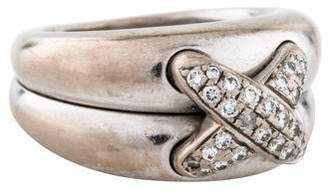 Chaumet 18K Diamond X Ring