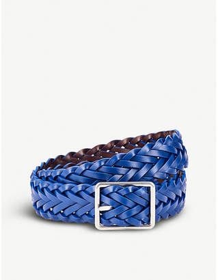 Paul Smith Reversible plaited leather belt