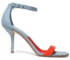 Diane von Furstenberg Ferrara Two-Tone Leather Sandals