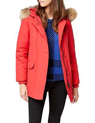 Canadian Classics Women's Down Jacket Raincoat Red Rot (Bright Red BRRE)