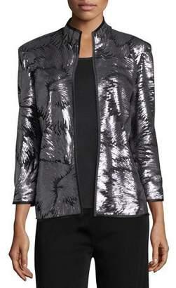 Misook Matte Sequin Burst Jacket, Plus Size