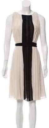 L'Agence Sleeveless Pleated Dress w/ Tags