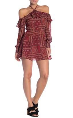Dress Forum Patterned Long Sleeve Mini Dress