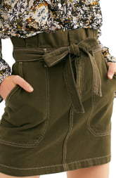 Free People Splendor in the Grass Paperbag Waist Skirt