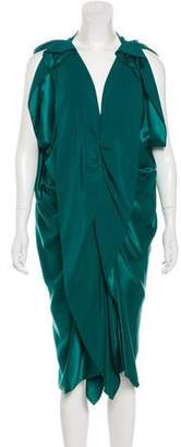 Lanvin Ruffled Silk Dress w/ Tags