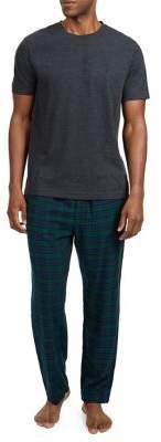 Nautica Two-Piece Blackwatch Plaid Pajama Set