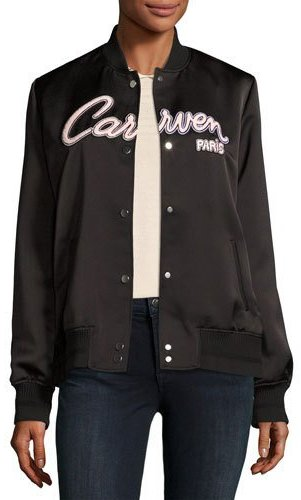Carven Carven Veste Teddy Bomber Jacket, Black