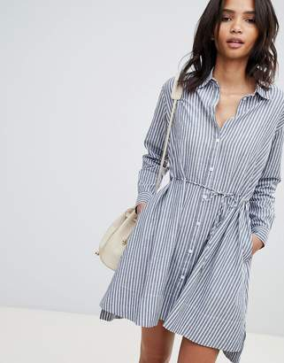 French Connection Stripe Tie Detail Dress