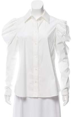 Louis Vuitton Long Sleeve Button-Up Top
