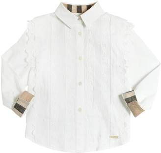 Burberry Cotton Poplin Shirt W/ Lace