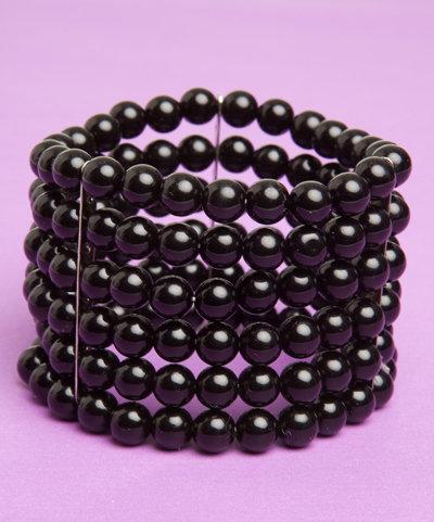 5 Row Black Bracelet