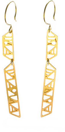 Kyler Long Totem Earrings