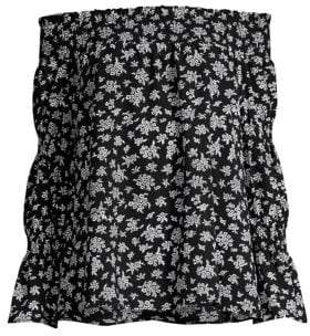 MICHAEL Michael Kors Wildflower Bouquet Off-The-Shoulder Top