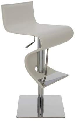 Nuevo Living Portland Adjustable Bar Stool, Modern Contemporary Counter Stool Leather