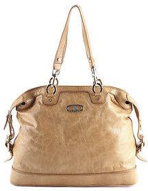 CelineCeline Brown Wrinkled Patent Leather Silver Tone Satchel Handbag BP4609 MHL